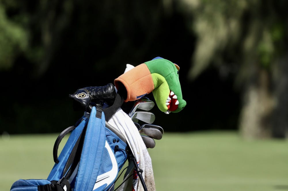 A Florida bag at Mark Bostick Golf Club in Gainesville, Florida. The Florida men's golf team saw its season come to an end at the national championship Sunday in Arizona after they failed to make the top-15 cut for Monday's final round, but Ricky Castillo advanced as an individual.