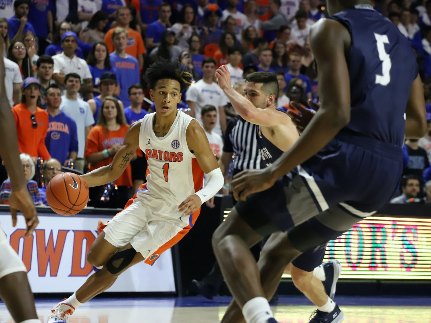 Gators guard Tre Mann finished with 17 points and eight rebounds, willing Florida to a comeback victory on Tuesday against Ole Miss