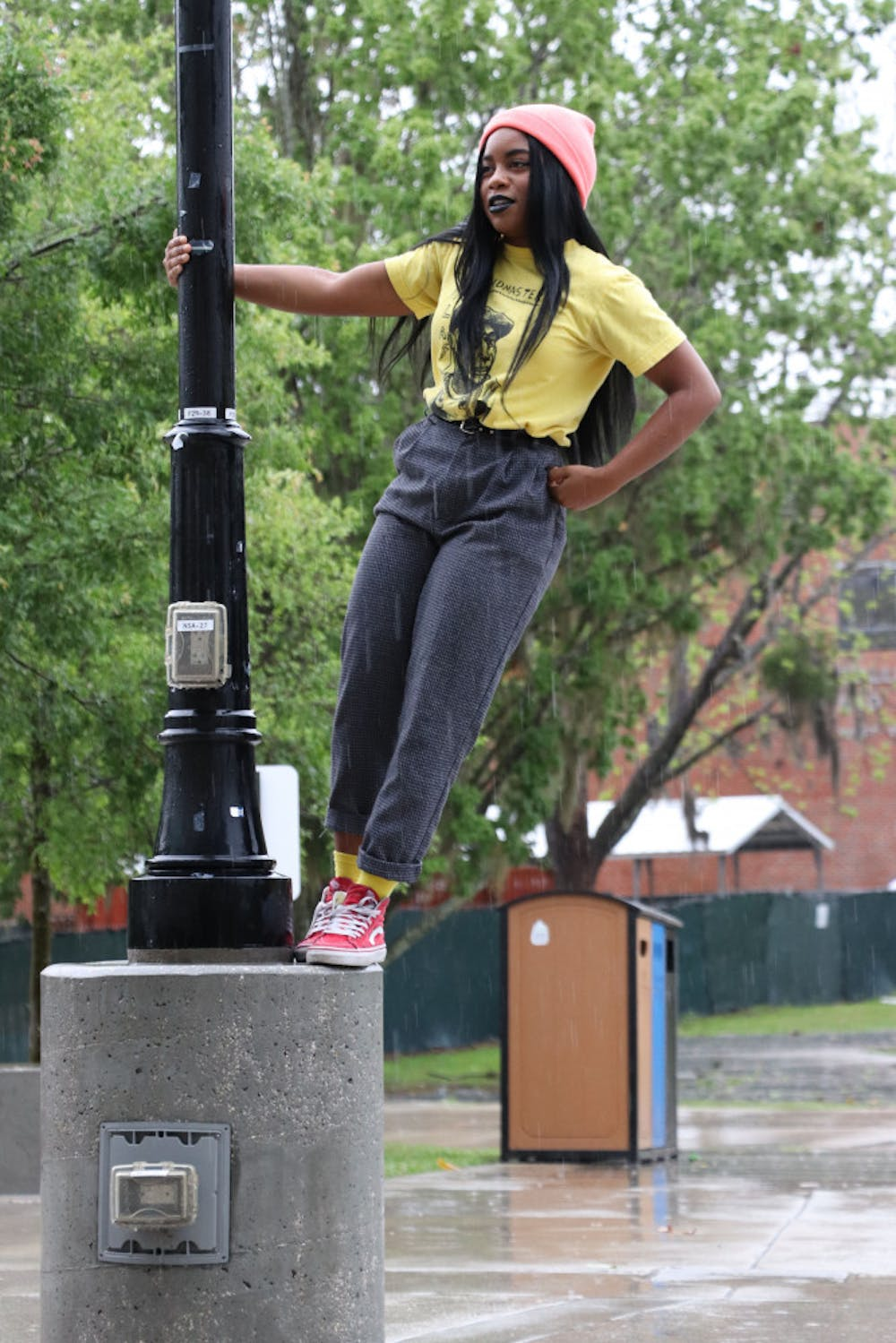 """<p dir=""""ltr""""><span>Imani Selvon is a 20-year-old UF dance sophomore. Her usual outfits for school consist of a T-shirt with leggings because she is a dance major. Don't let her casual look fool you, she is completely dedicated to fashion in her spare time. She is constantly getting inspired by magazines, TV shows and Instagram. Selvon likes to DIY her own clothing sometimes too.</span></p><p><span></span></p>"""
