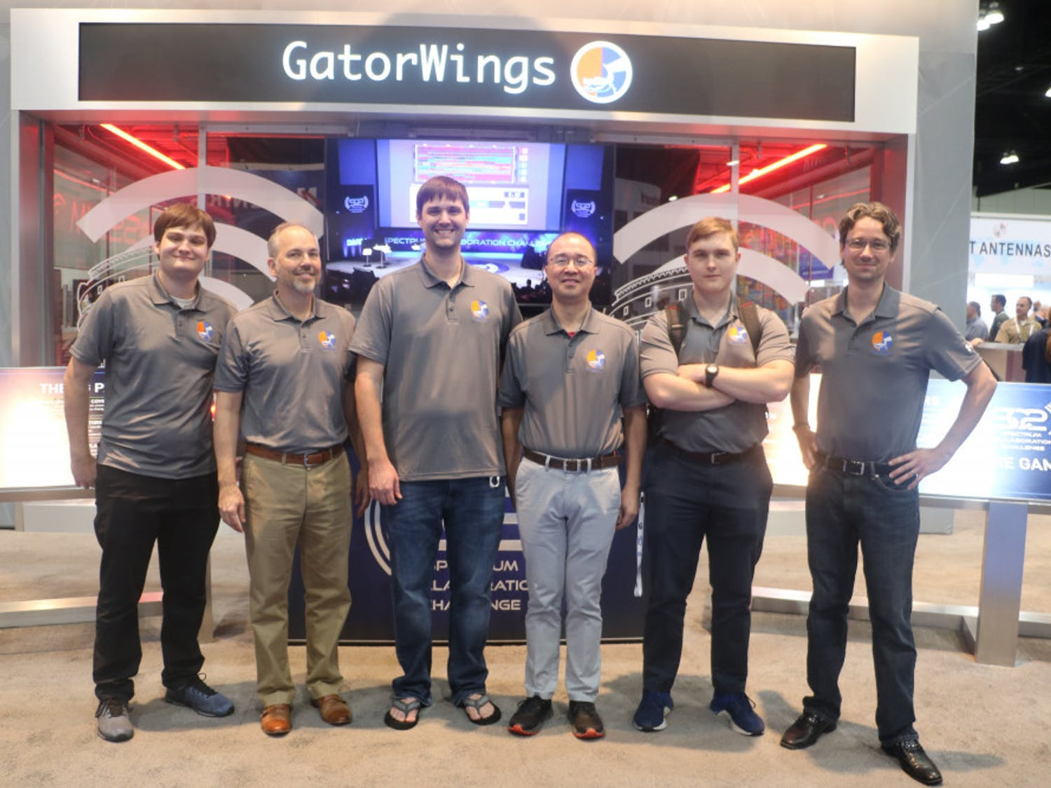 Team GatorWings (left to right: Marco Menendez, Dr. John Shea, Tyler Ward, Dr. Tan Wong, Caleb Bowyer, and David Greene). Photo emailed to me from John Shea.