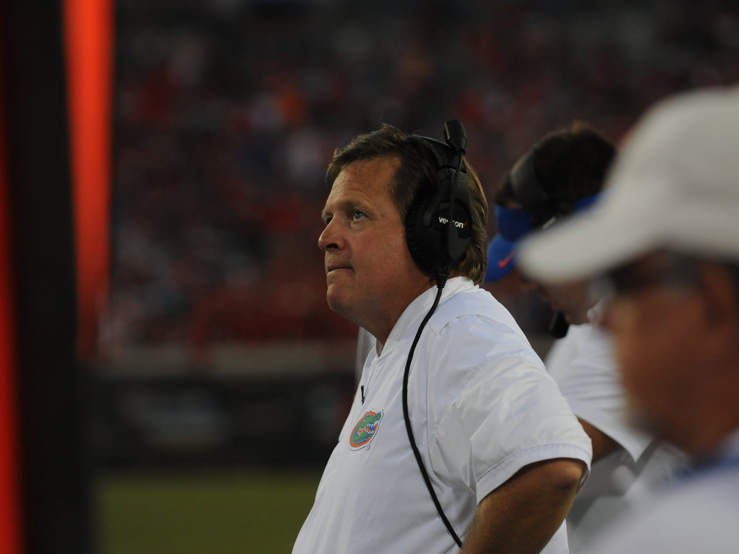 Coach Jim McElwain looks on during Florida's 24-10 win over Georgia on Oct. 29, 2016, in Jacksonville.
