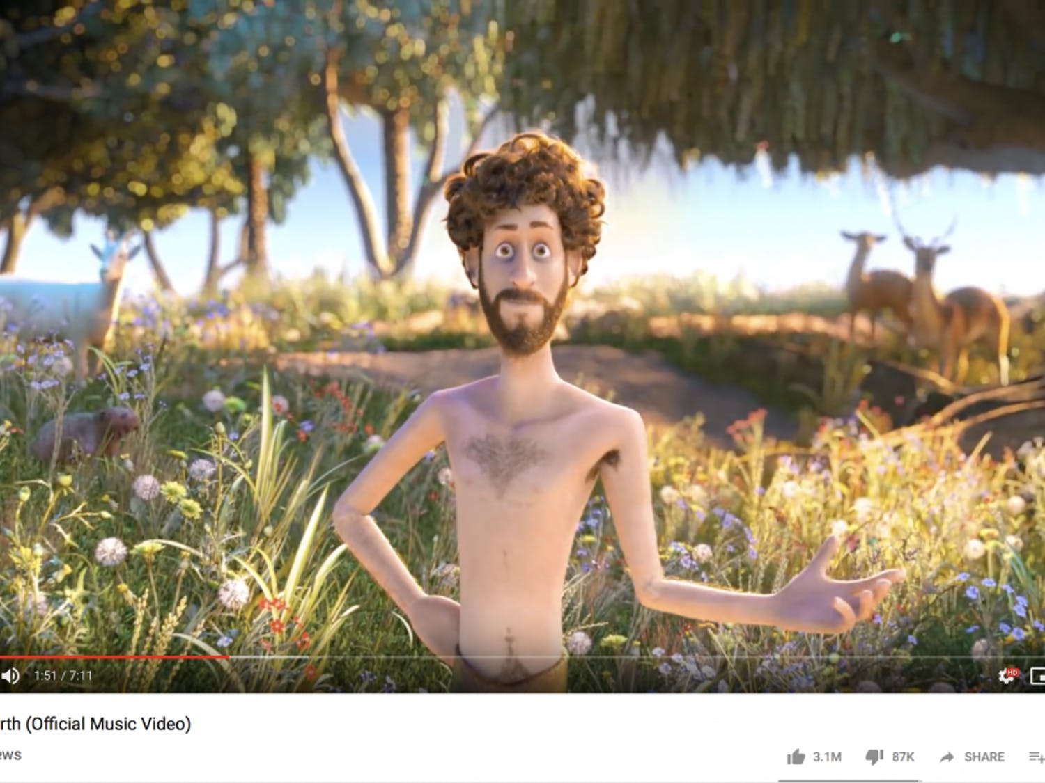 """Lil Dicky's """"Earth"""" music video has more than 34 million views."""