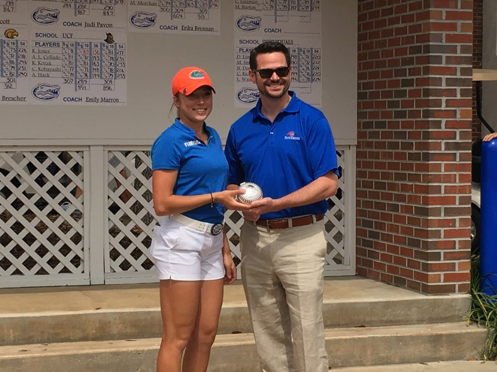 """<p>A week after winning the SunTrust Gator Invitational last weekend, sophomore Sierra Brooks carded the only under-par score for Florida in the first round of the<span id=""""docs-internal-guid-e1ff9a99-3c6f-2100-334a-f80552b32a21""""><span>Evans Derby Experience in Auburn, Alabama.</span></span></p>"""