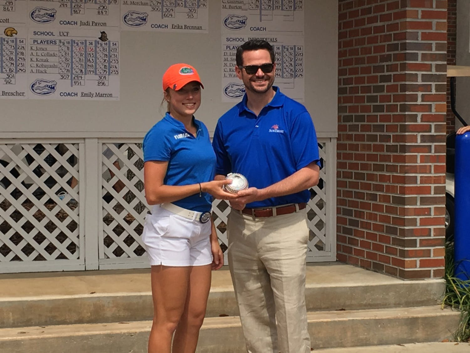 A week after winning the SunTrust Gator Invitational last weekend, sophomore Sierra Brooks carded the only under-par score for Florida in the first round of theEvans Derby Experience in Auburn, Alabama.