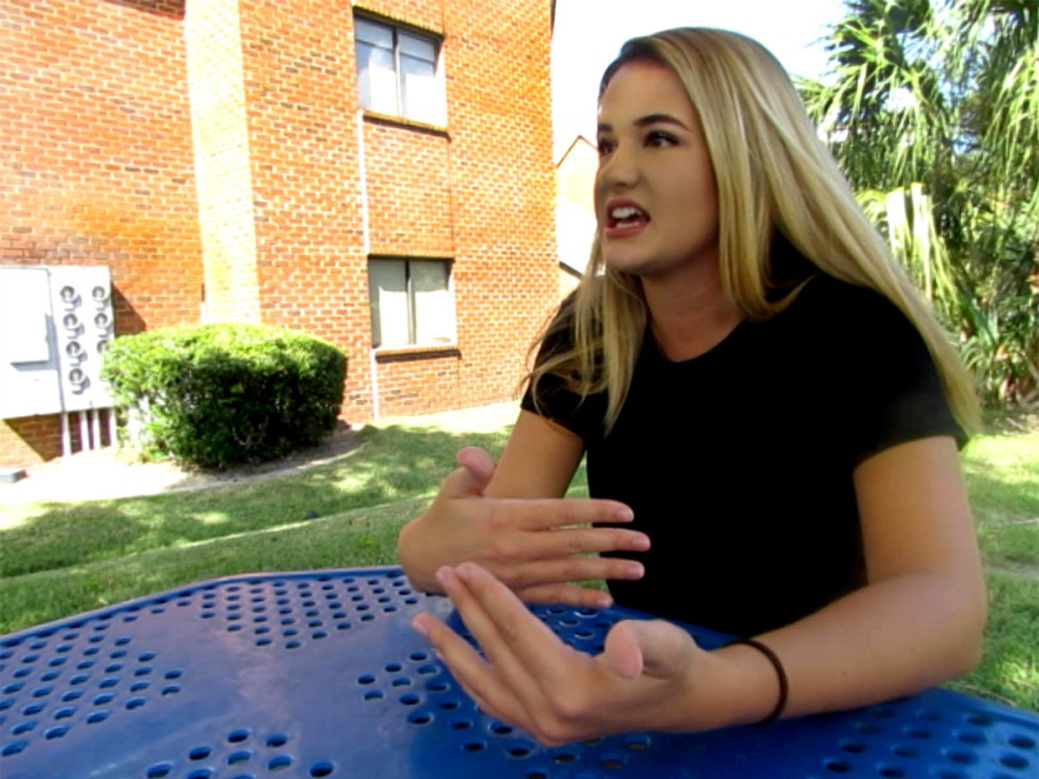 Olivia Kabat tells the story of her former substance abuse disorder at the UF Health Florida Recovery Center. Kabat, a 22-year-old UF telecommunication fifth year, has been sober for more than 14 months.