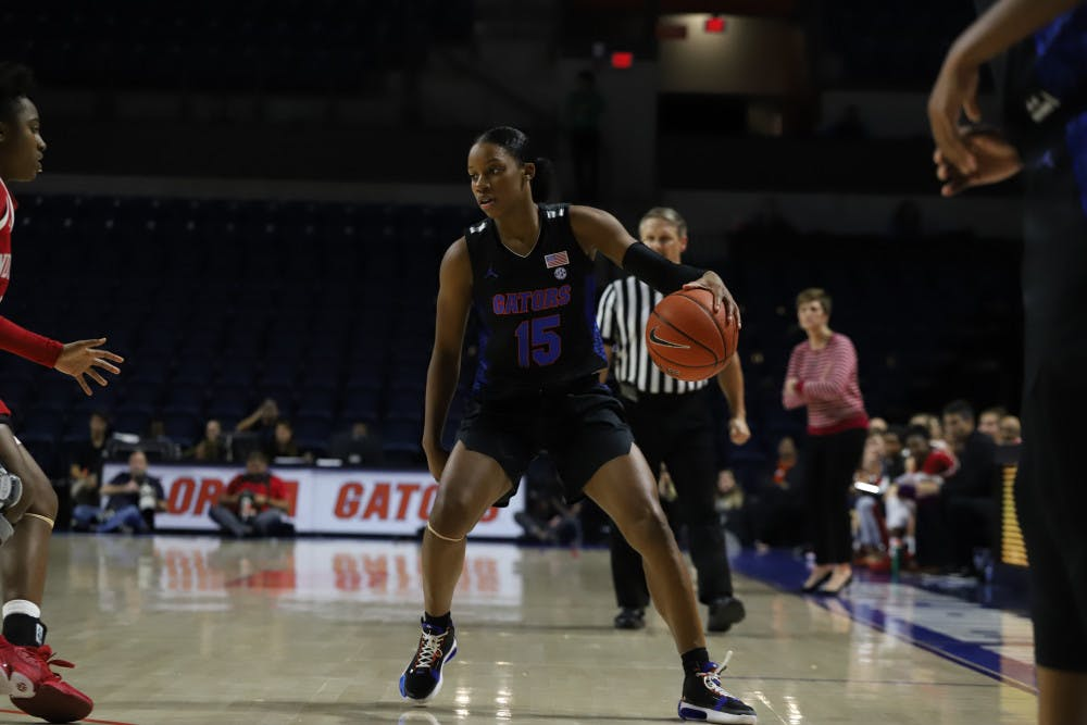 <p>Sophomore guard Nina Rickards put up 18 points and sot 4-6 from deep in the Gators loss to the Seminoles.</p>