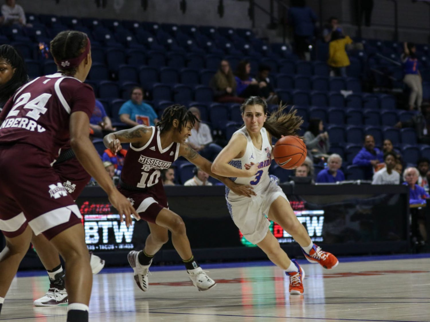 UF guard Funda Nakkasoglu became thesecond active player in the SEC to cross 2,000 career points in the Gators' regular-season finale victory over Vanderbilt on Sunday.