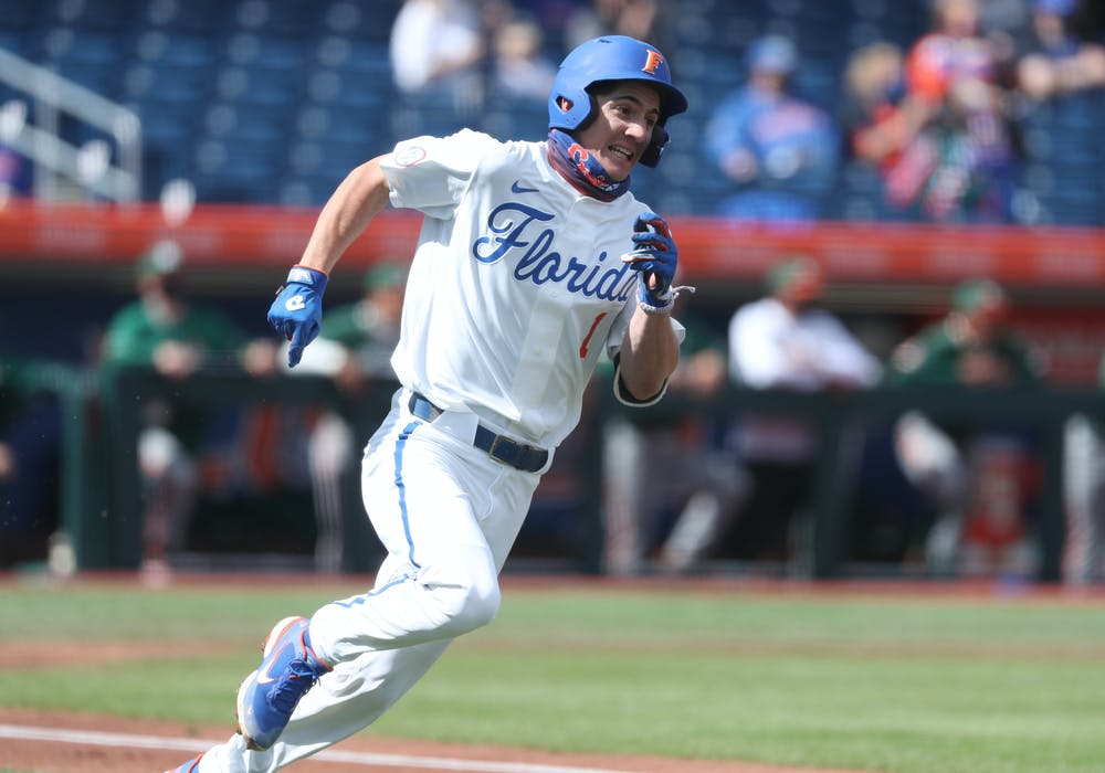 The Gators are off to a near-historic start at the plate. The team batting average stands at  .316, with 99 hits in just eight games. UF-UM game Feb. 21. Courtesy of the SEC Media Portal.