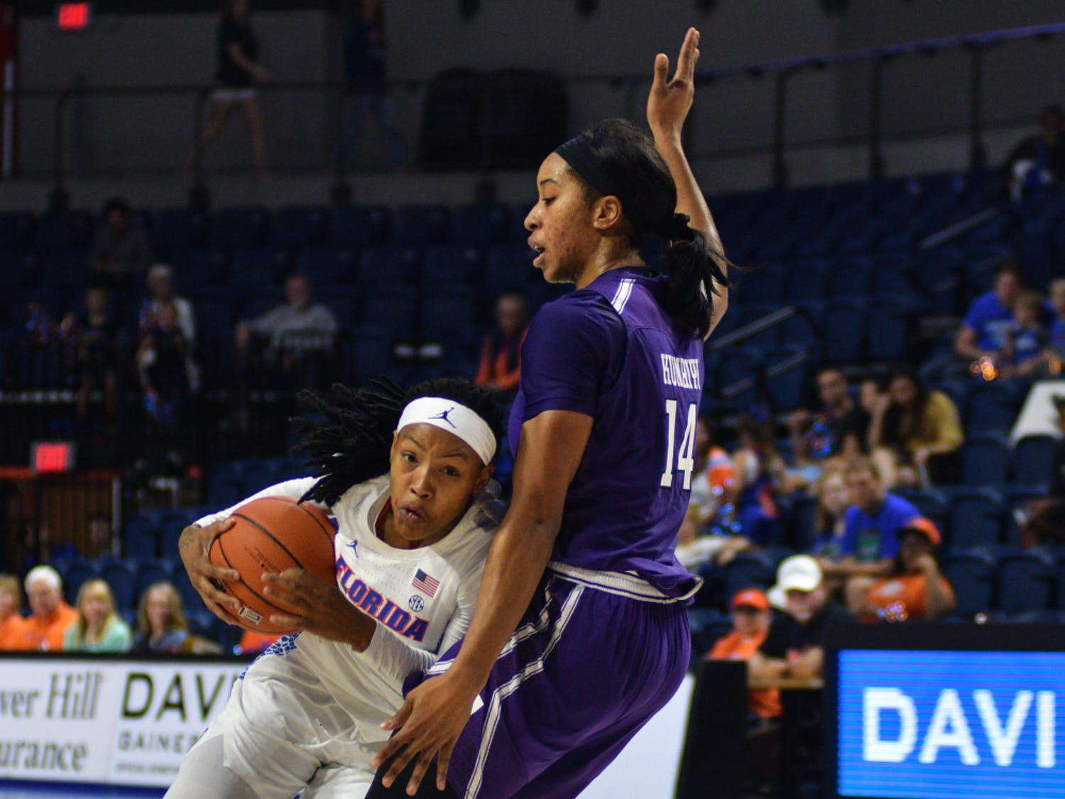 Guard Delicia Washington scored 22 points at Indiana, but the Gators fell to the Hoosiers 83-64 despite her effort.