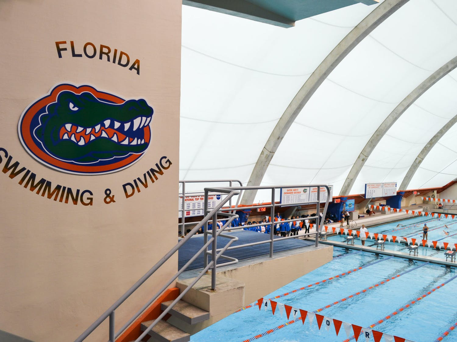 The Florida men's and women's swimming and diving times compete in Austin, Texas, this weekend in an event hosted by the Texas Longhorns. The UF men enter the meet ranked No. 8, while the women have a national rank of No. 19.