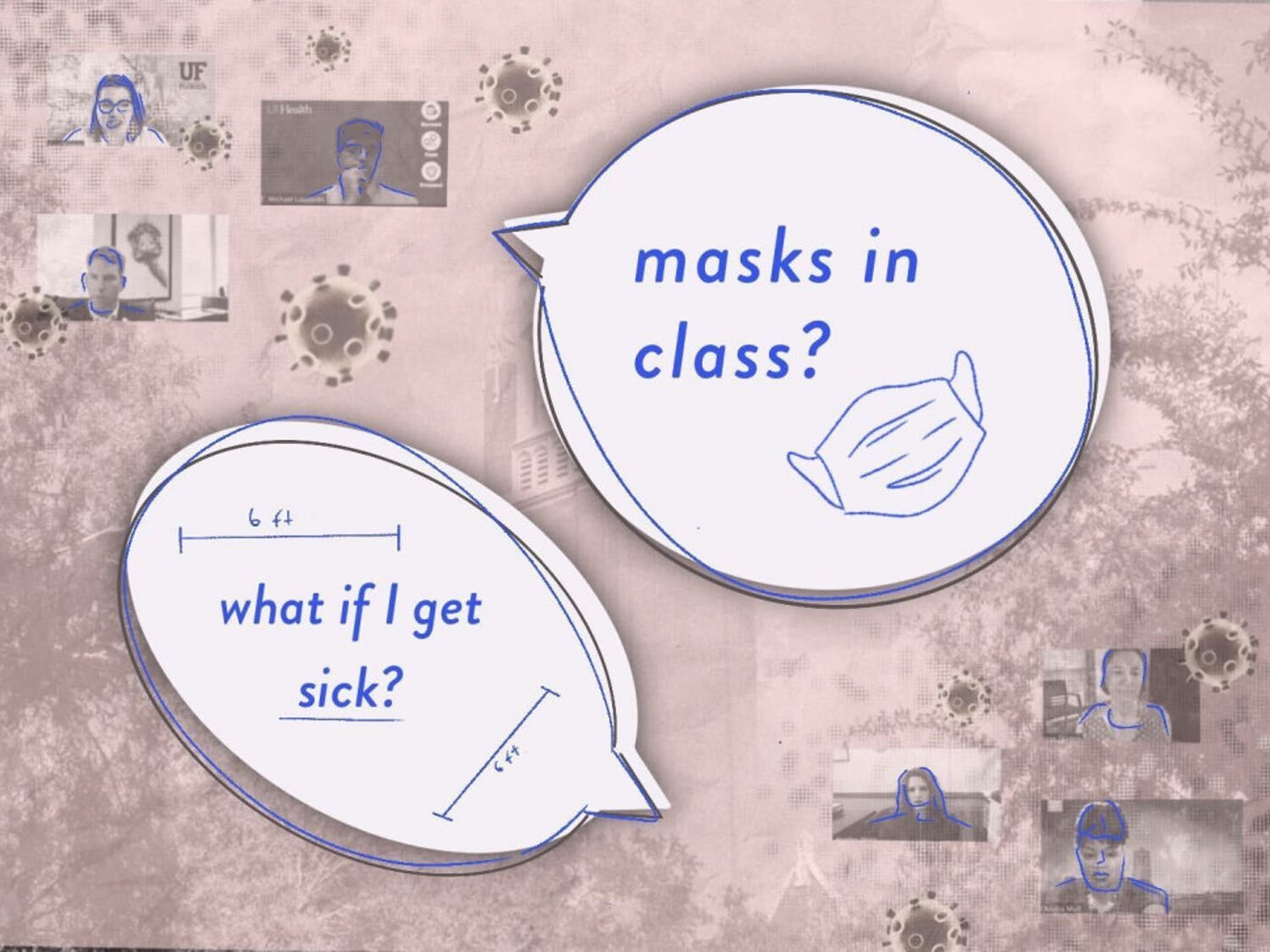 UF and UF Health officials discussed enforcing masks and protocols for when students get sick at a town hall on Thursday.