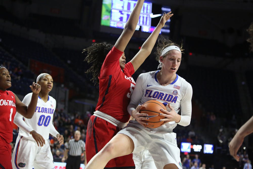<p>Forward Haley Lorenzen will play her last game at the O'Connell Center as a Gator Thursday night against Tennessee.</p>