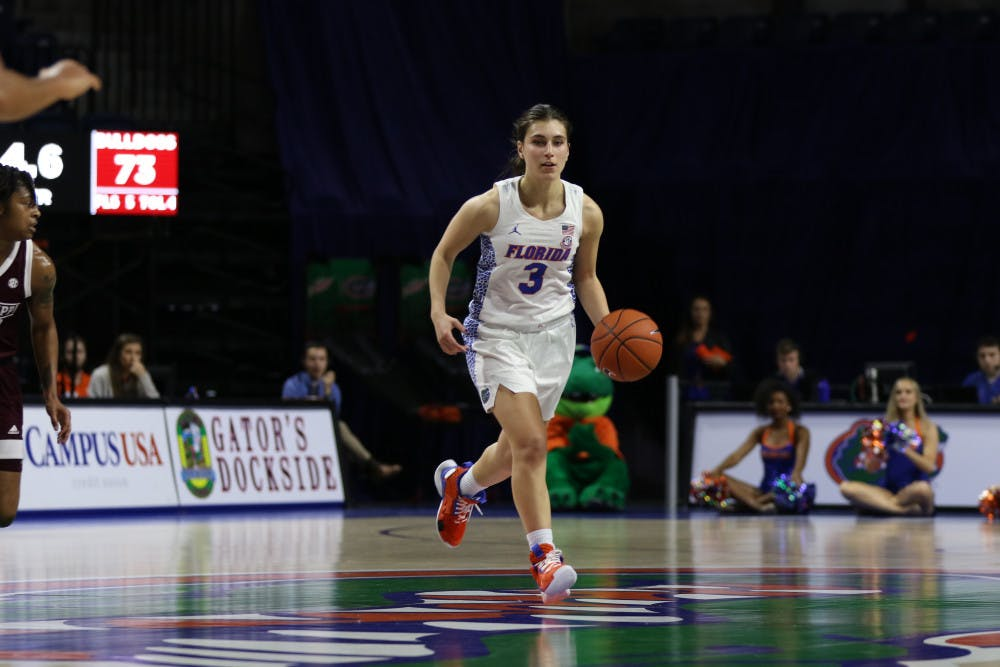 """<p>Guard Funda Nakkasoglu scored<span id=""""docs-internal-guid-3e0ec966-7fff-d7c2-bed1-d81d439a512c""""><span>22 points on 6-of-9 shooting from beyond the arc in the Gators'<span id=""""docs-internal-guid-21ca4212-7fff-3cad-61f8-e2cb299d5470""""><span>80-62 loss to Texas A&amp;M on Monday.</span></span></span></span></p>"""