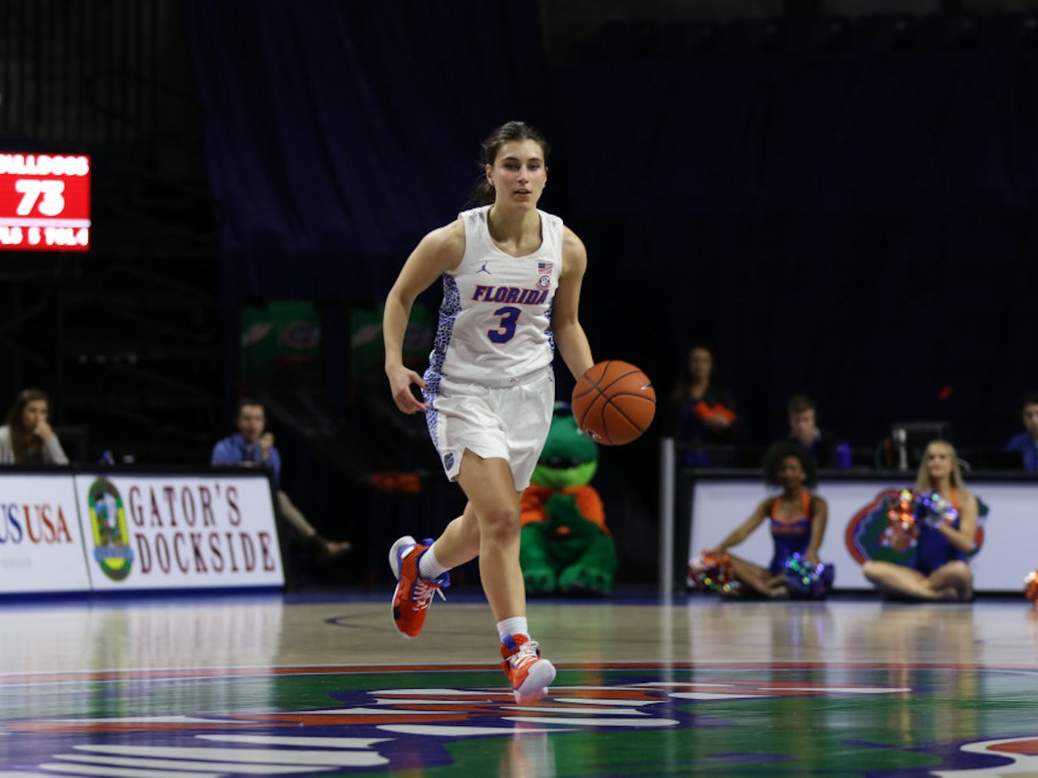Guard Funda Nakkasoglu scored22 points on 6-of-9 shooting from beyond the arc in the Gators'80-62 loss to Texas A&M on Monday.