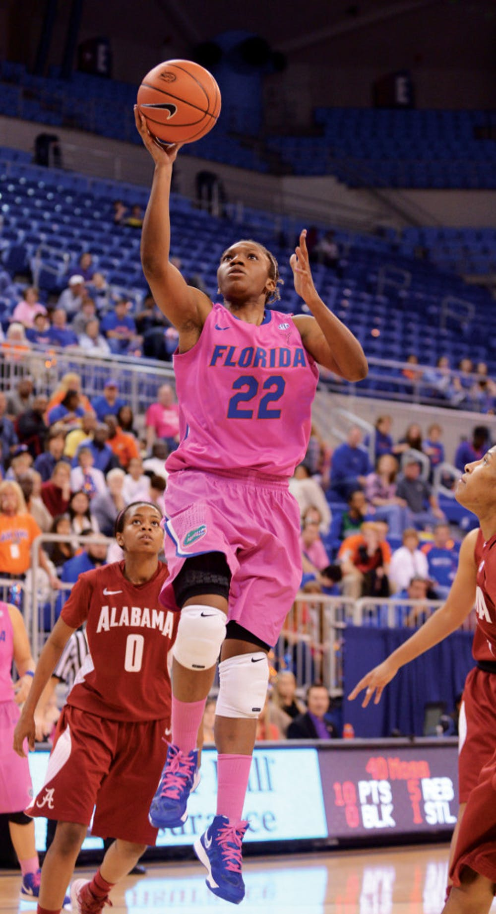 <p><span>Kayla Lewis (22) shoots during Florida's 87-54 win against Alabama on Feb. 3 in the O'Connell Center.</span></p> <div><span><br /></span></div>