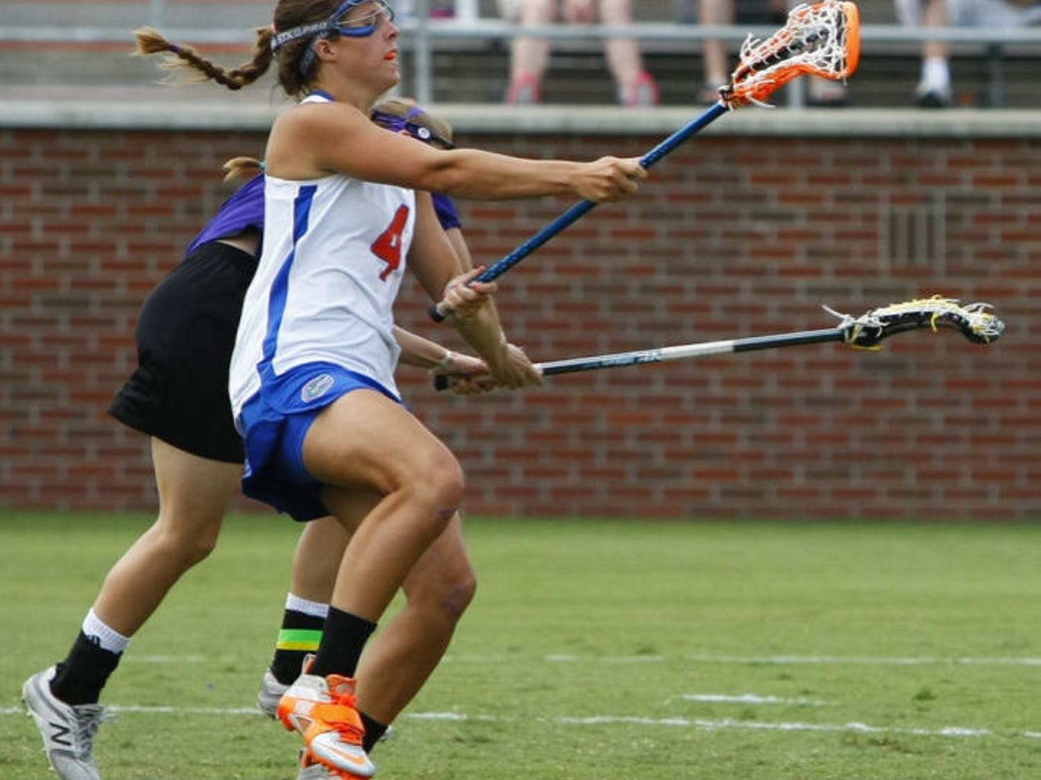 Kitty Cullen attempts a shot during Florida's 14-7 win against Northwestern on May 5 at Dizney Stadium.