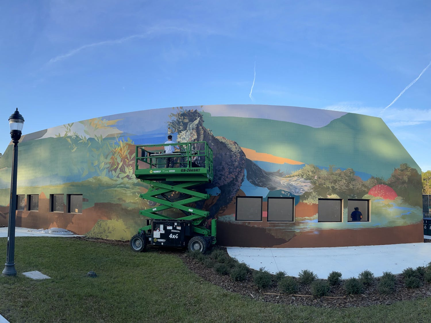 The mural took Ernesto Maranje about one week to complete.