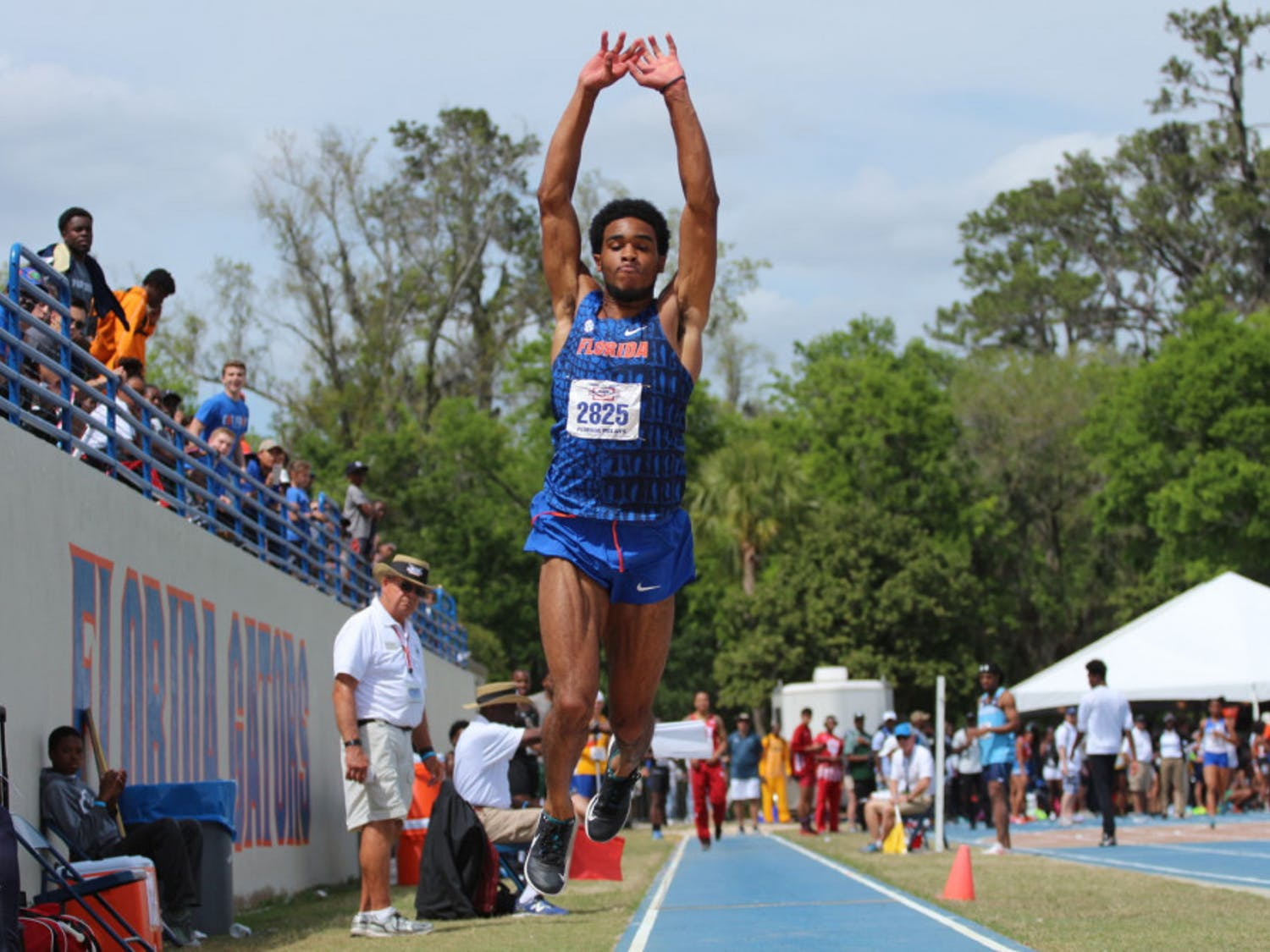 Senior KeAndre Bates notched the second-longest triple jump in the nation Saturday at the Pepsi Florida Relays.