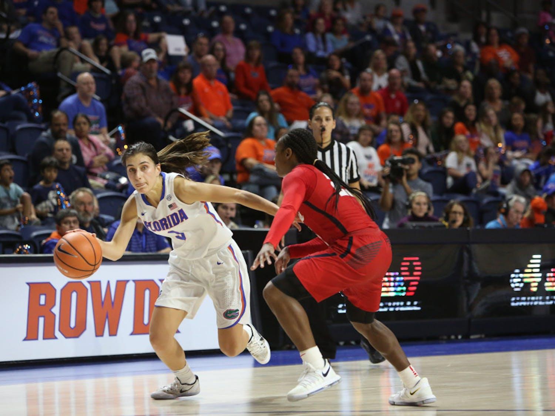 Florida guard Funda Nakkasoglu scored 19 points on 7-of-13 shooting in the Gators' 90-53 loss to Mississippi State on Thursday night.