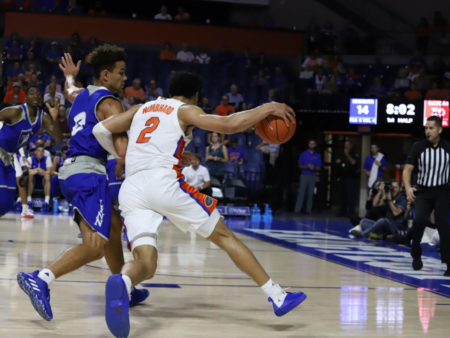 Point guard Andrew Nembhard led the Gators with 17 points and notched six assists in the exhibition win.