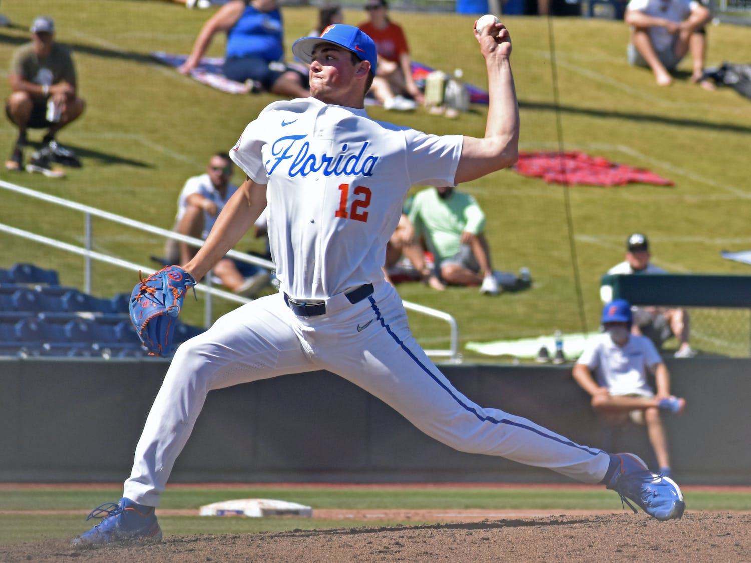 Freshman Hunter Barco throws a pitch against Jacksonville on March 14. The southpaw struck out seven batters in 5.1 innings against Vanderbilt Sunday.