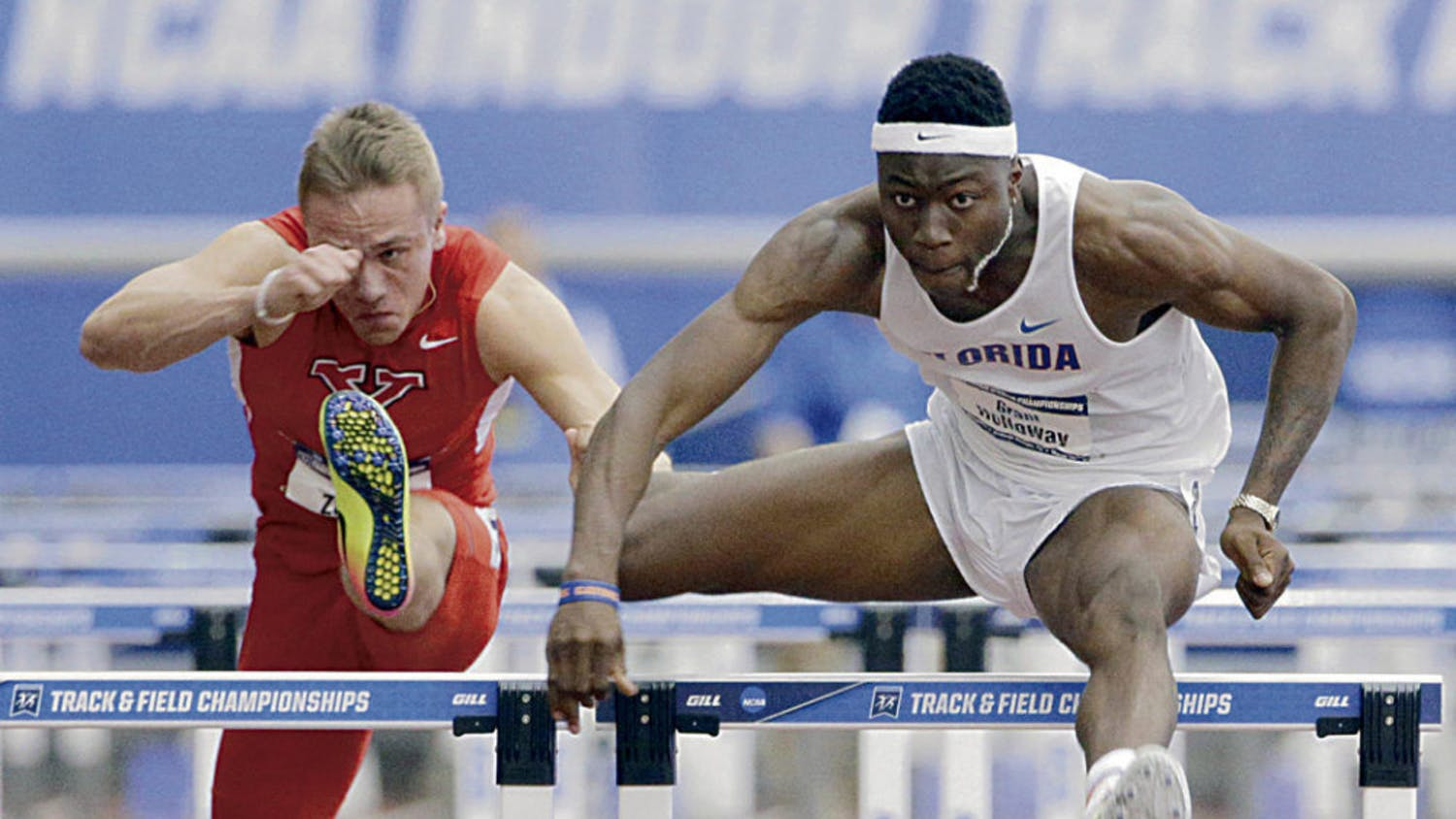 Sophomore hurdler Grant Holloway was one of the many UF track and field athletes who were named All-Americans.