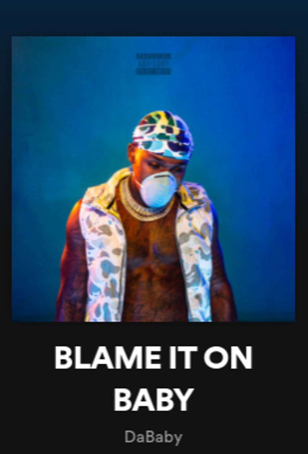 """<p>DaBaby's """"Blame It On Baby"""" offers little more than run-of-the-mill trap beats and disposable lyrics.</p>"""