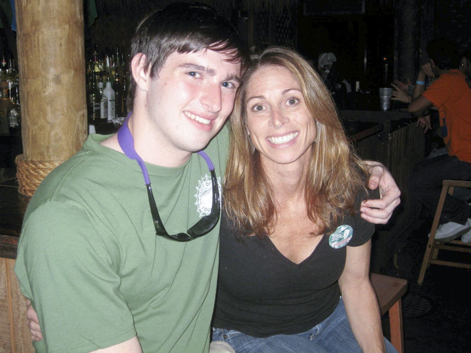Thomas Coady poses with his mother, Maria Coady, a UF professor on special assignment for international education, in this undated photo.