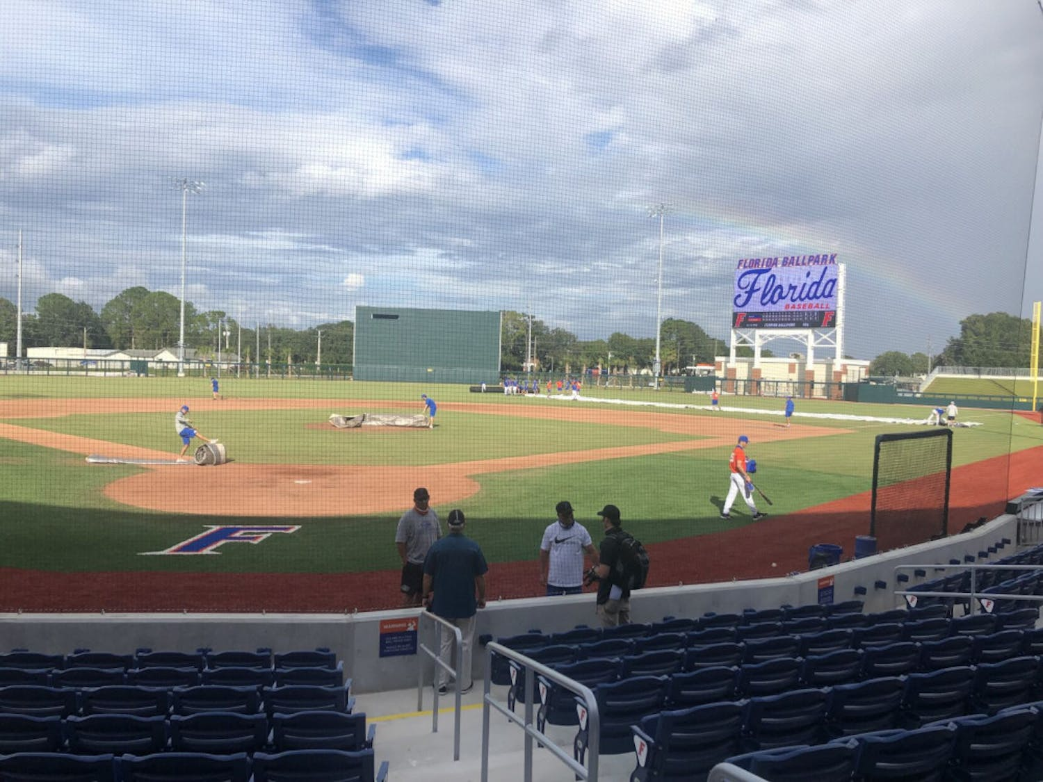 Florida Ballpark at Alfred A. McKethan Field after Friday's scrimmage. Construction of the new park finished in August of this year.