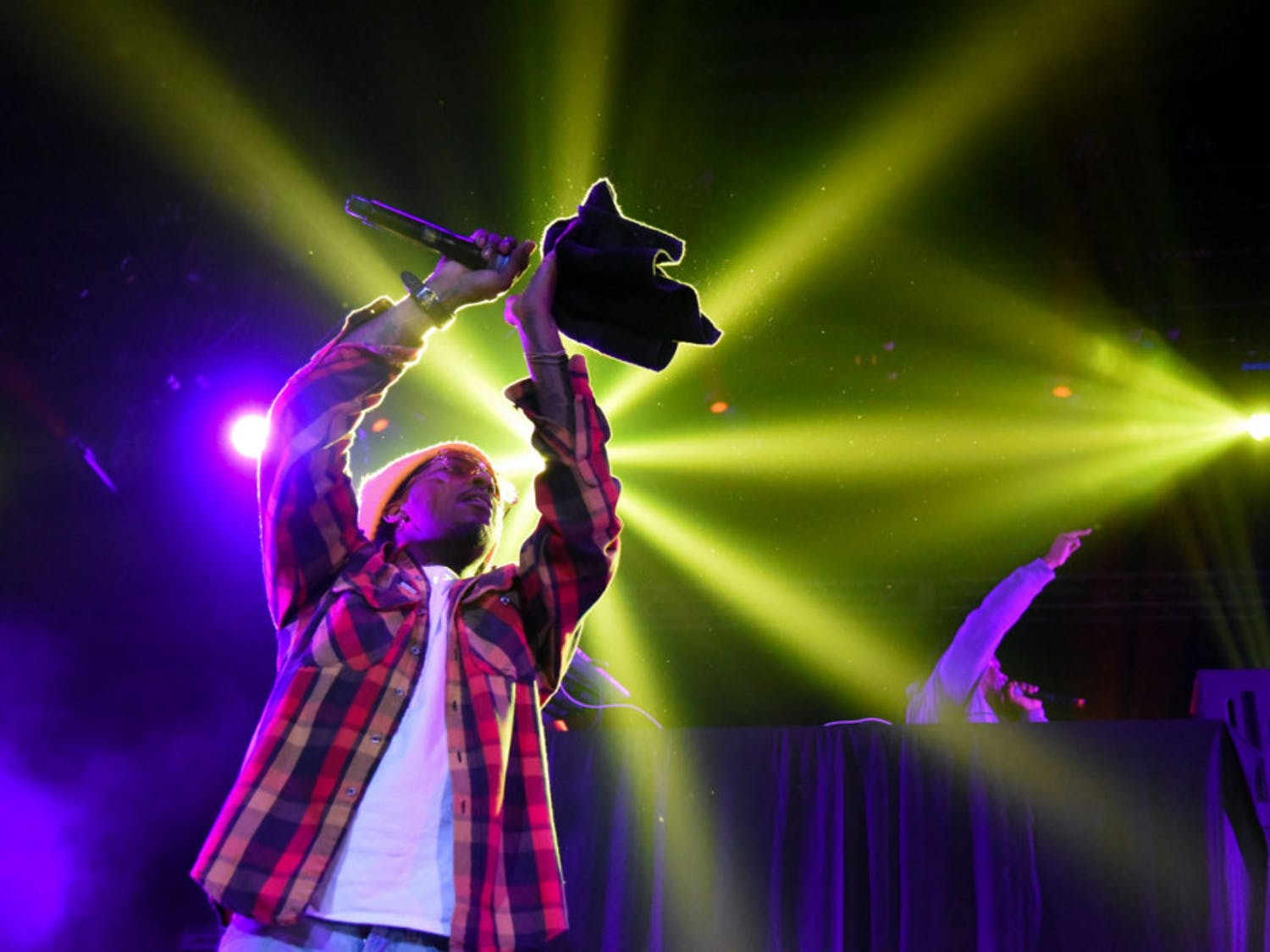 """Harold """"Strap"""" Duncan, a member of Travis Porter hip-hop trio, performs as the opening act for the Tory Lanez concert Monday night."""