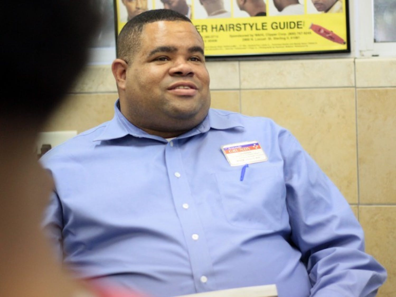Armando Grundy, 32, is one of three candidates running for Gainesville City Commission, District 1.