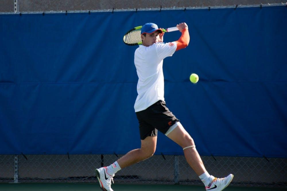 <p>Sam Riffice will compete with senior Duarte Vale in doubles against Auburn</p>