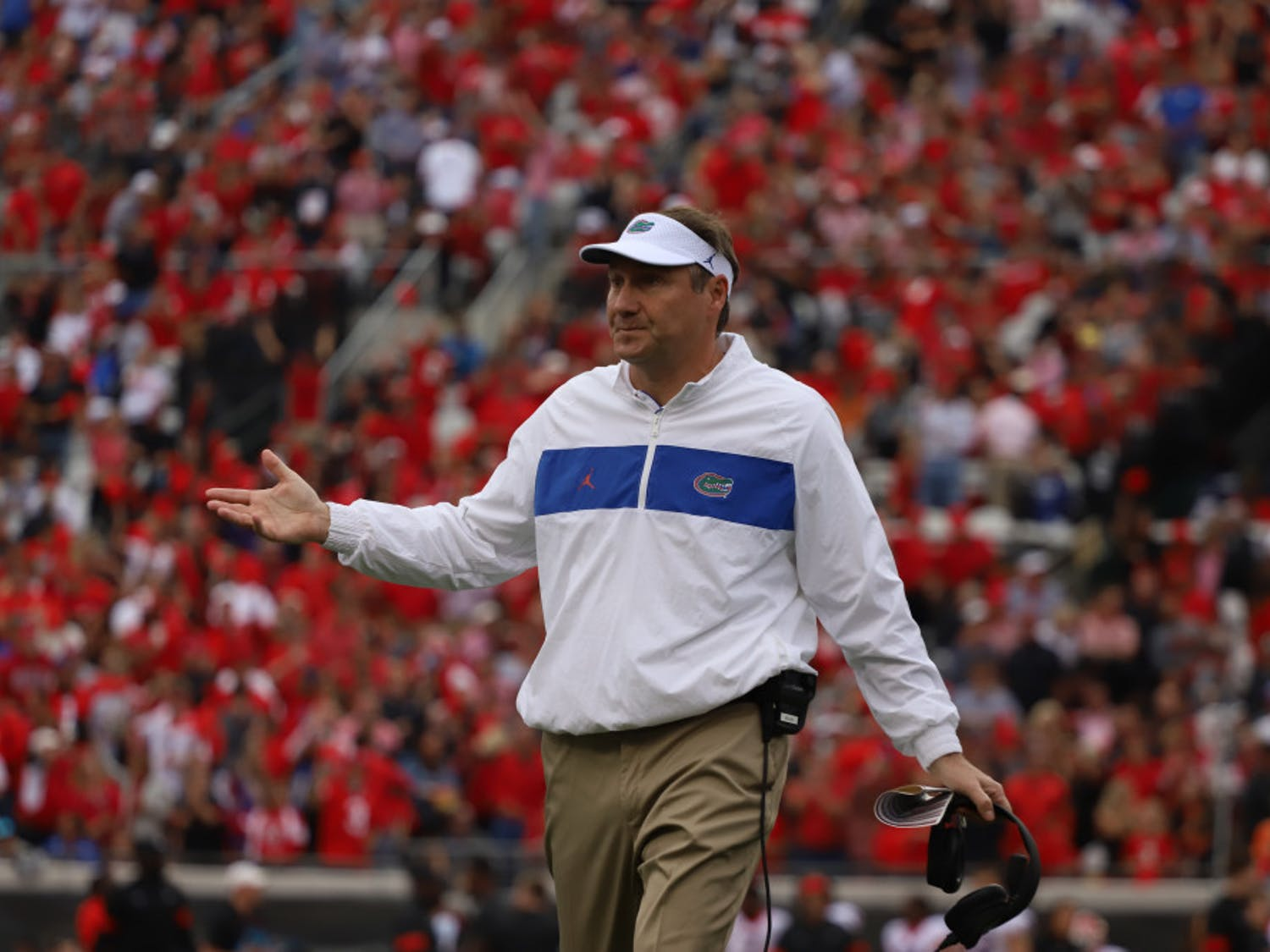 UF coach Dan Mullen was forced to burn two timeouts on his team's opening drive.