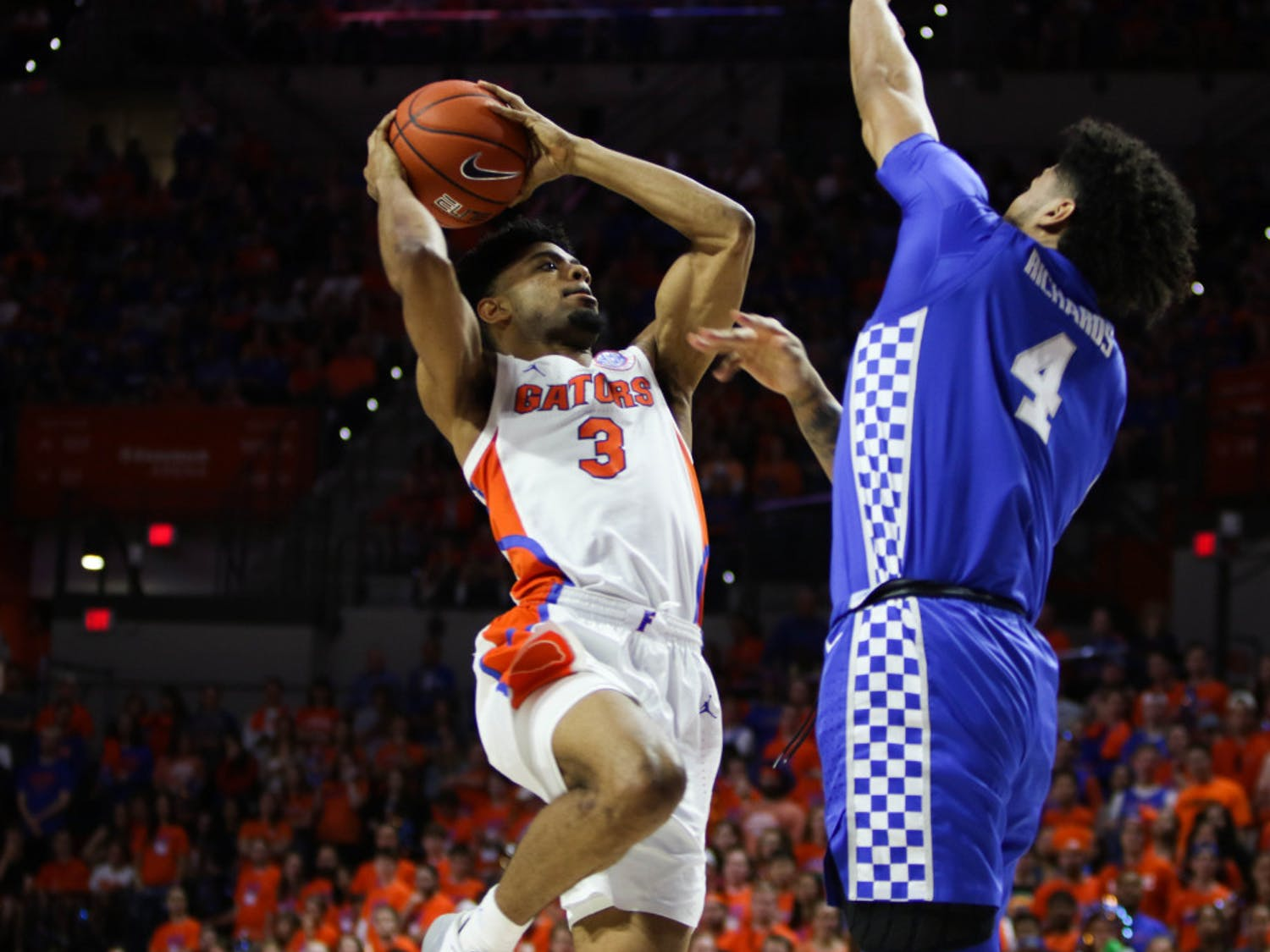 Senior guard Jalen Hudson's 11 points in the Gators' 65-54 loss to Kentucky were his highest total since Butler (Dec. 29) and the first time this year he'd reached double figures in SEC play.