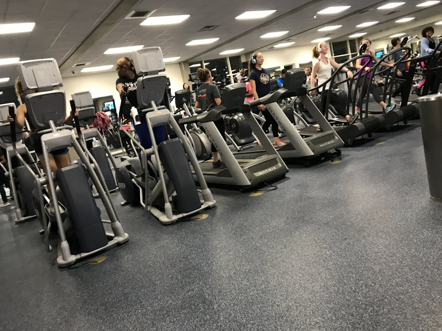 During the first week of spring semester, Student Recreation center is overflowing with students determined to keep their New Year's resolutions.