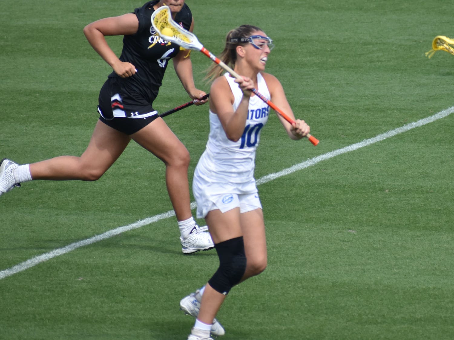 Florida scored four goals on five shots in the first four minutes of the match. Photo from UF-Cincinnati game March 27.