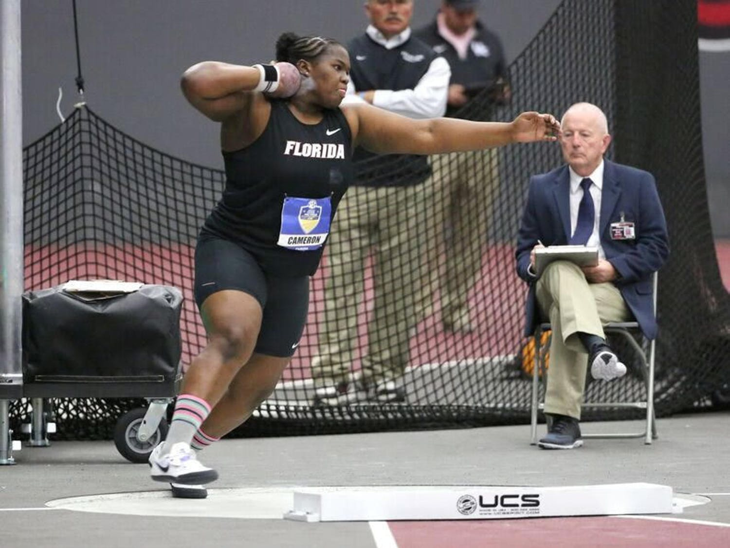 SeniorLloydricia Cameron competed in Day 1 of the2018 Indoor SEC Championships on Saturday in College Station, Texas.