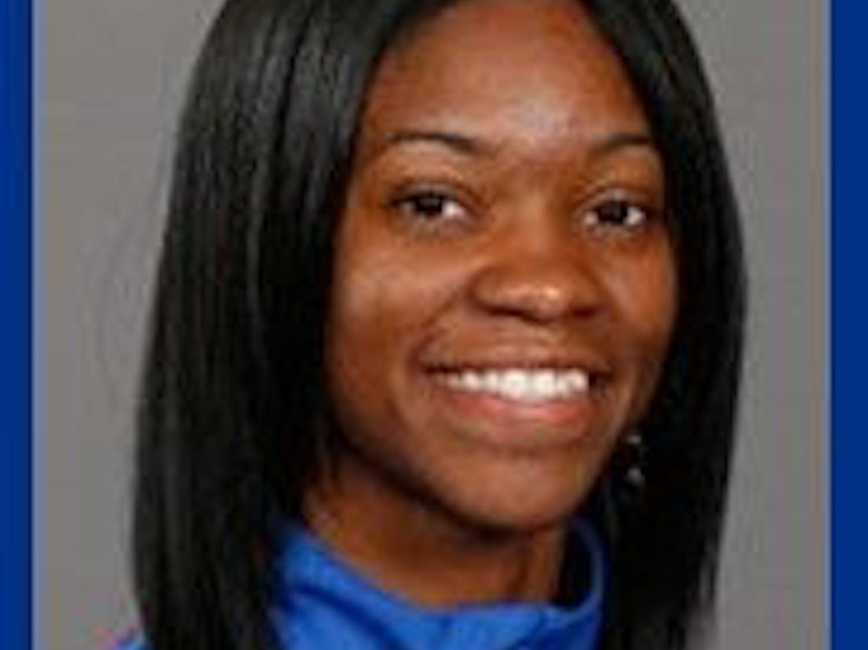 UF junior sprinter Shayla Sanders.