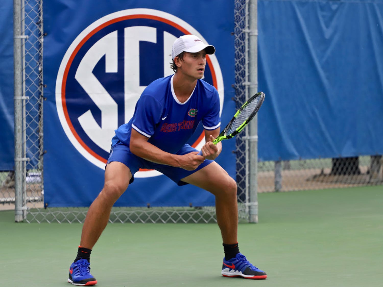 Brian Berdusco at the ITA Tournament in Gainesville last season. This year, the Gators will play in three SEC-only invites.