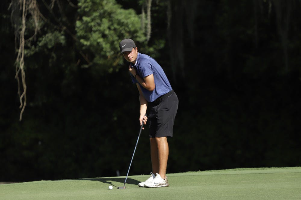 <p>Redshirt sophomore Fred Biondi (pictured) and freshman Joe Pagdin are currently tied for 12th individually at theVanderbilt Legends Collegiate.</p>