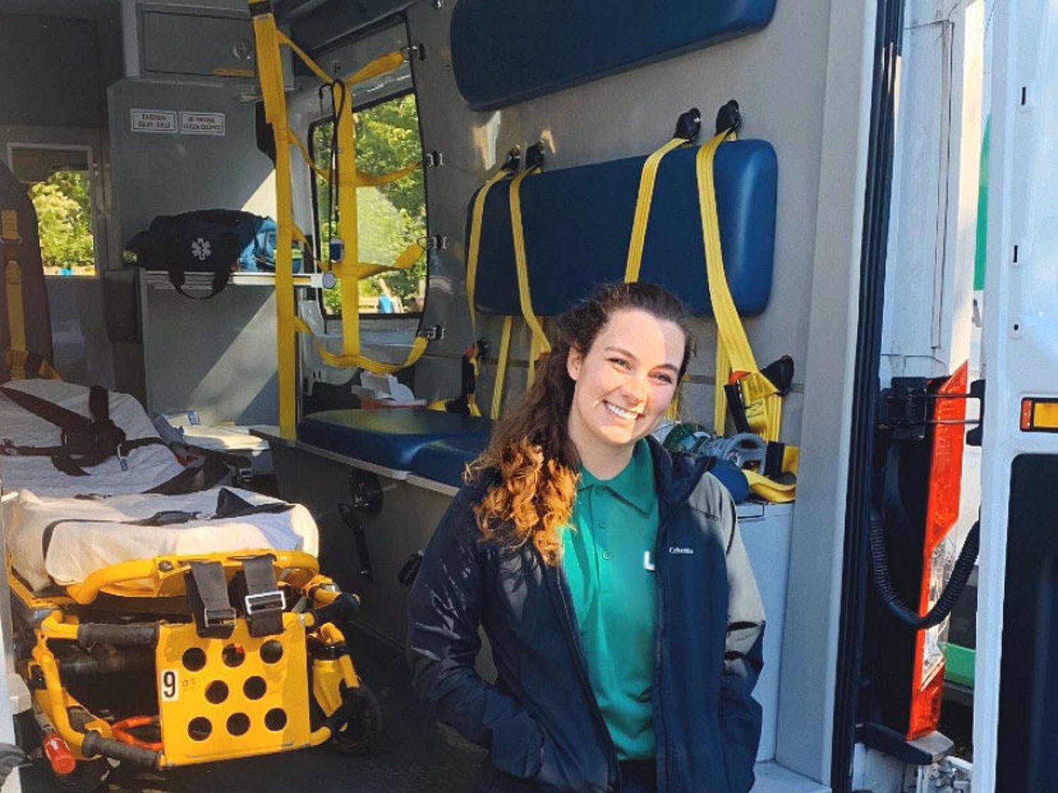 UF Gator Band member and EMT Lauren Mizell risks contracting COVID-19 while transporting patients on an ambulance.