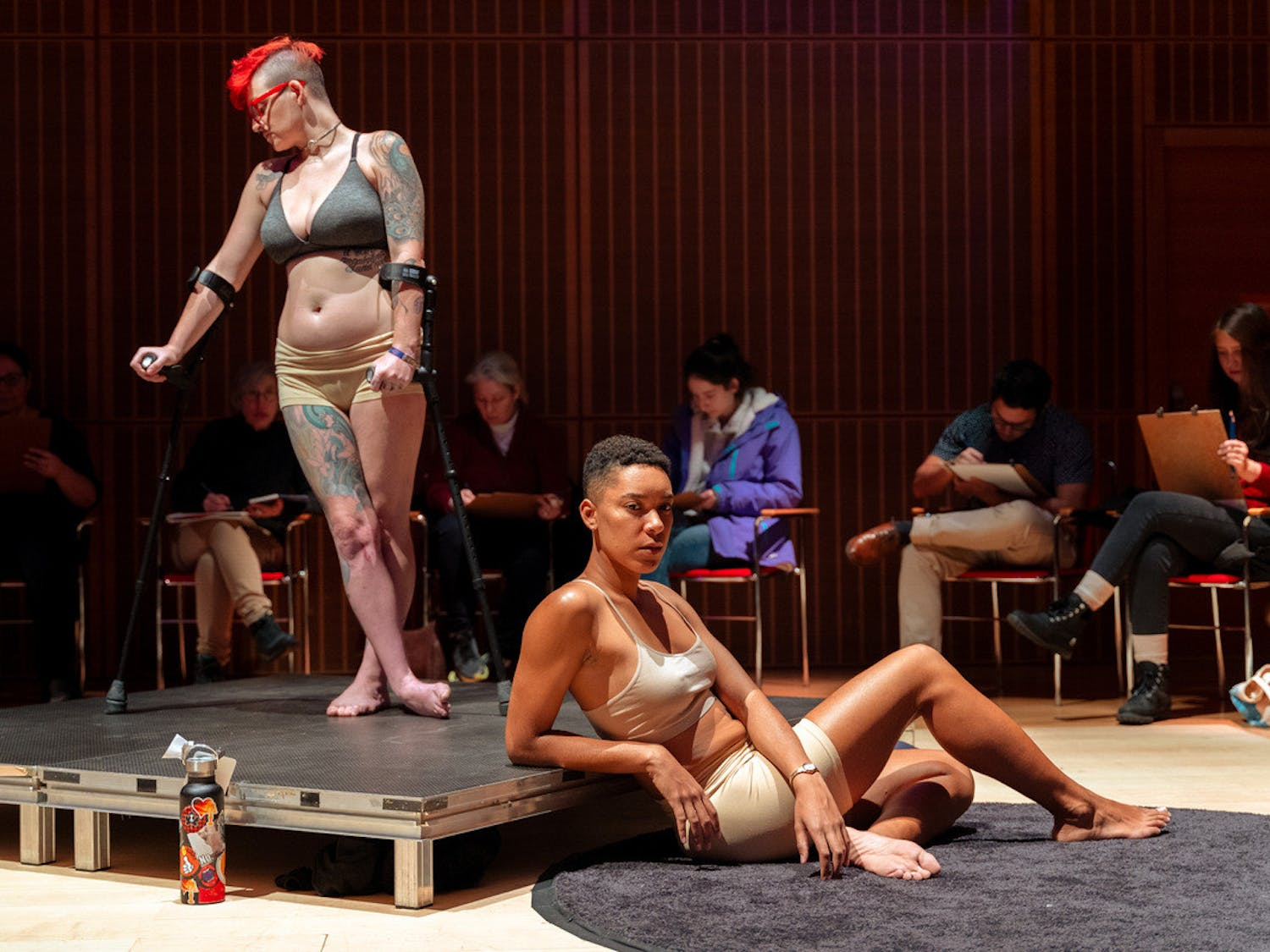 Figure On Diversity models pose at the Isabella Stewart Gardner Museum's Frank Hatch Free Day in an open drawing event on Monday, February 17, 2021. Around 500 people attended the event. (Photo Courtesy by Faizal Westcott)