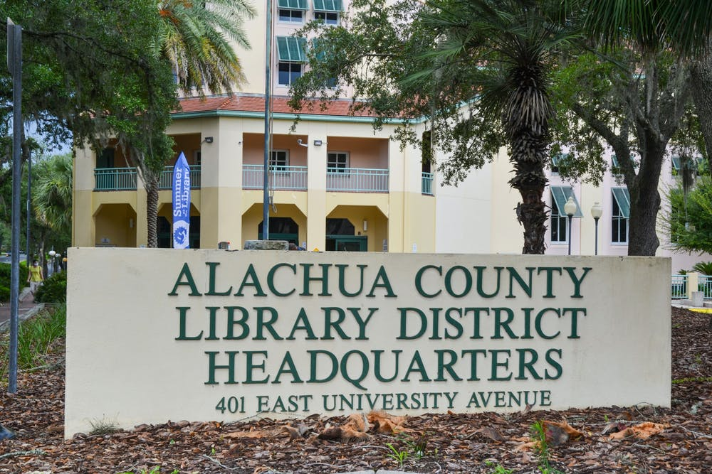 The Alachua County Library District downtown headquarters, located at 401 E University Ave in Gainesville on Monday, July 12, 2021. The Alachua County Library District is hosting its eighth annual summer art show in August; due to the COVID-19 pandemic, this year's event is virtual.