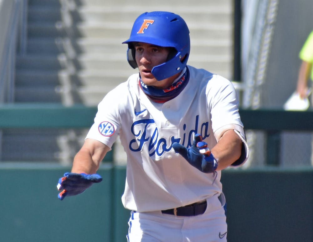 After South Carolina swept UF on the road last weekend, No. 15 Florida bounced back with a 4-1 win over No. 3 Ole Miss on a chilly Thursday night at Florida Ballpark. Photo from UF-Jacksonville game March 14.