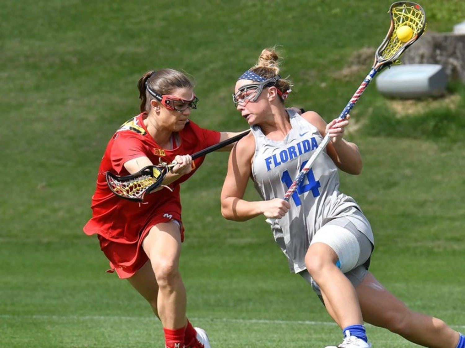 Junior attacker Lindsey Ronbeck scored the first two goals of the game on Saturday, but it wasn't enough as the Gators fell to James Madison, 11-8.