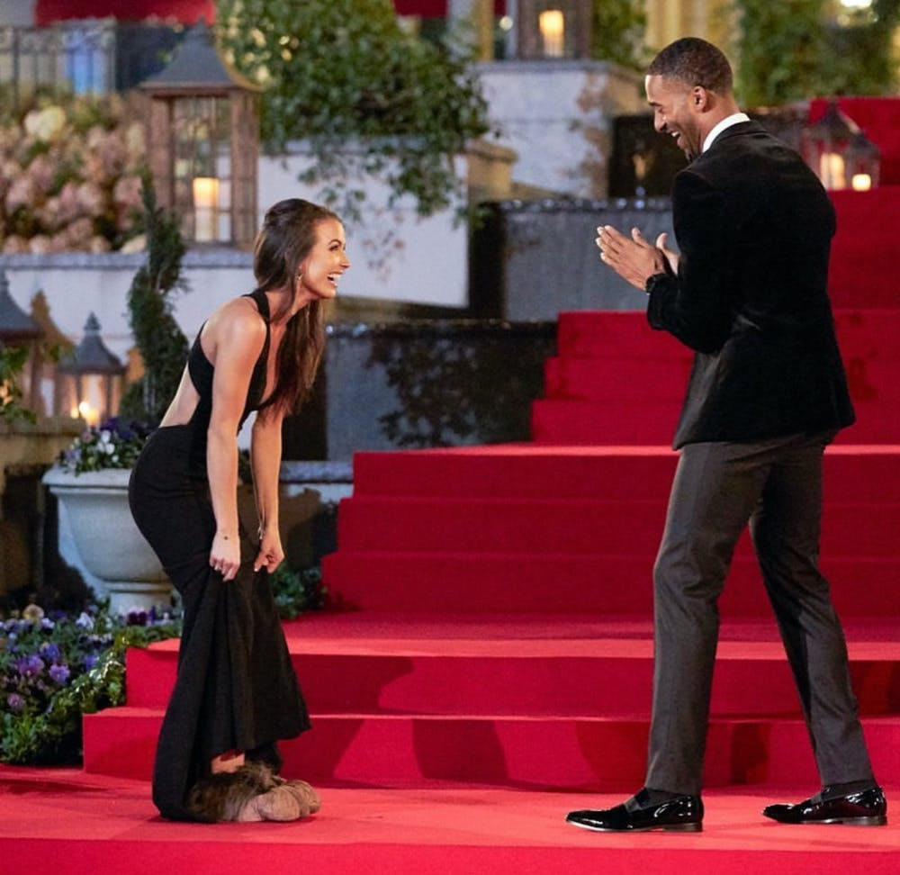 """Saneh Ste. Claire meets Matt James on the 25th season of """"The Bachelor.""""   Picture by ABC"""