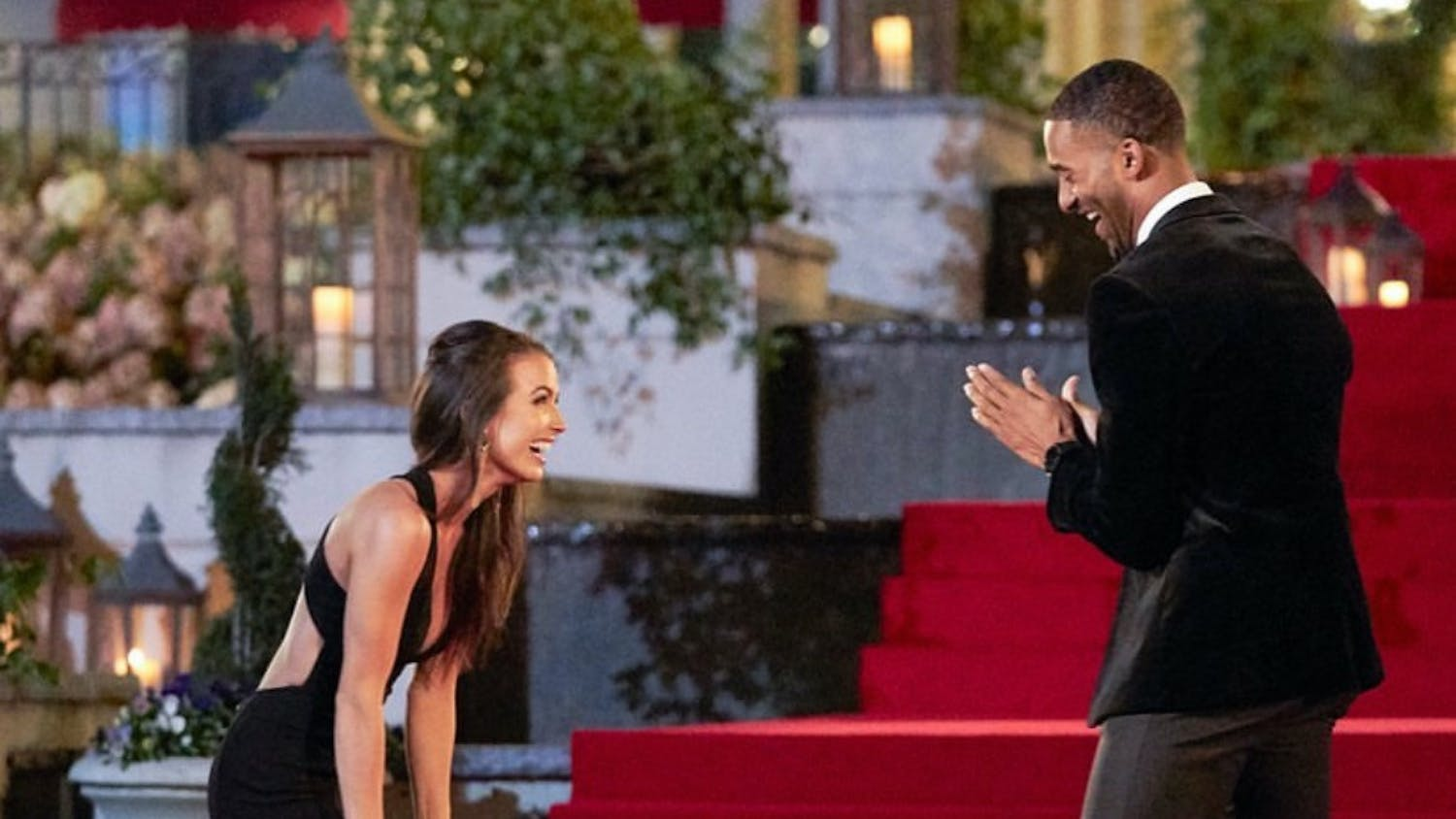 "Saneh Ste. Claire meets Matt James on the 25th season of ""The Bachelor."" 