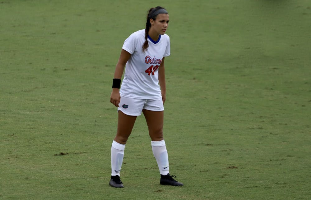 <p>Alivia Gonzalez, pictured during her sophomore year, scored the game-winning goal Sunday afternoon versus Florida Gulf Coast University. </p>