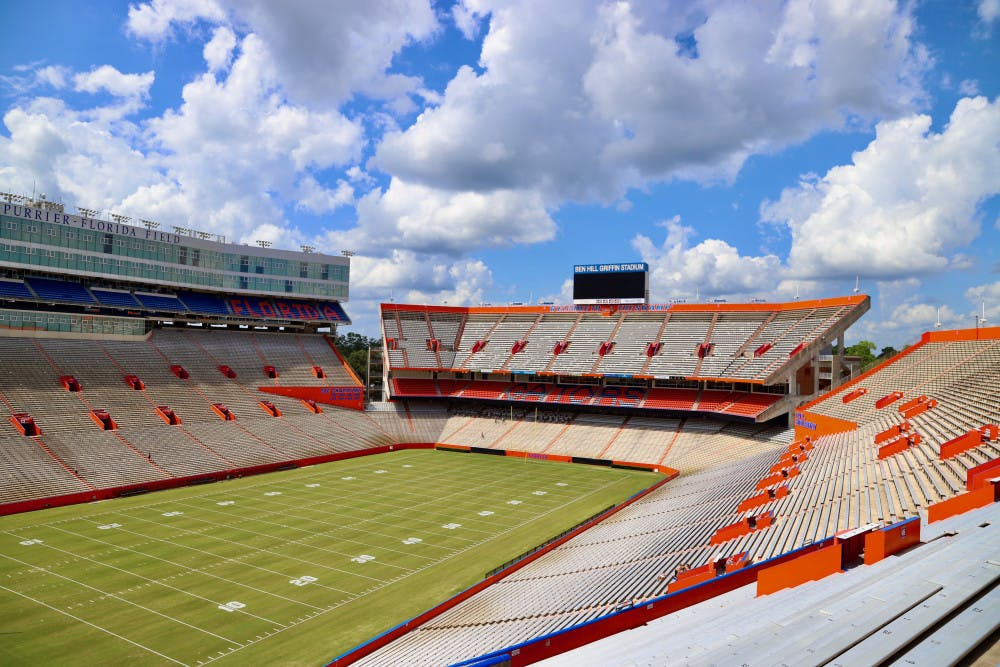 <p>Due to the COVID-19 pandemic, Ben Hill Griffin Stadium will house a maximum of 17,000 fans in 2020, as opposed to its listed capacity of more than 88,000.</p>