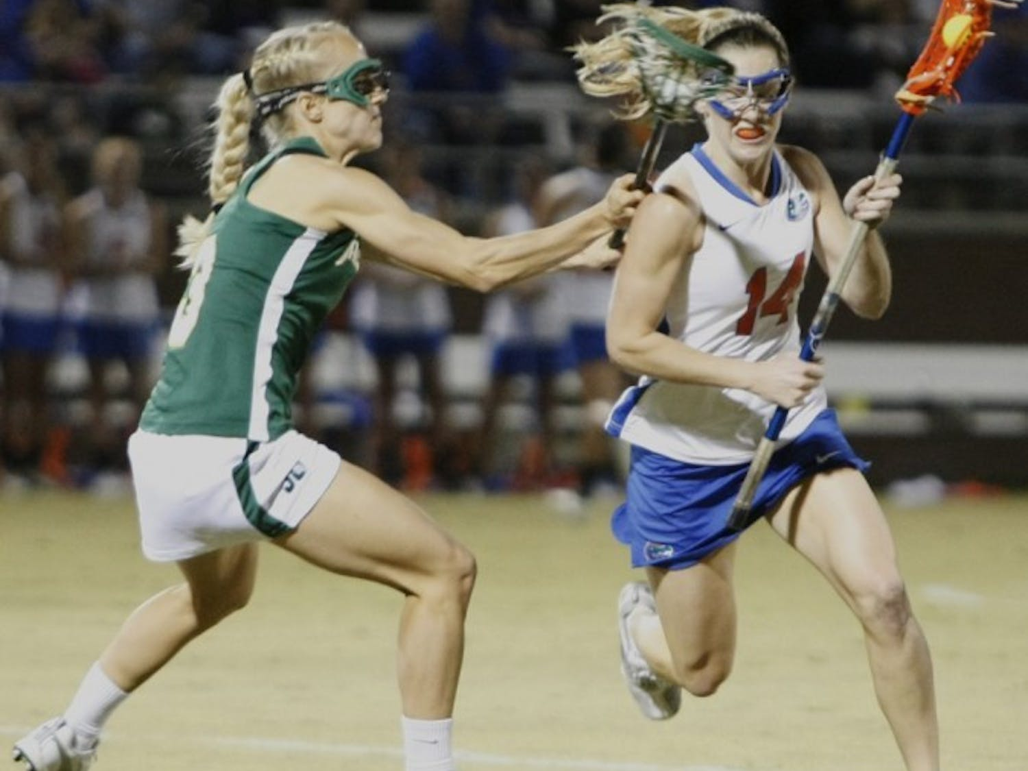 Florida freshman midfielder Nora Barry now leads the team in scoring after notching five goals in the Gators' 14-5 win against Jacksonville in the home opener.